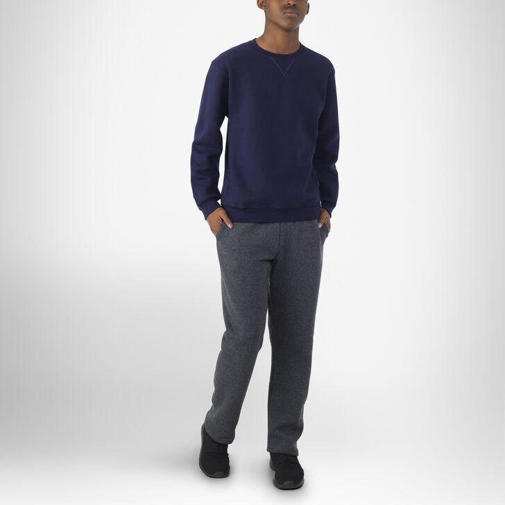 Youth Dri-Power® Open-Bottom Pocket Sweatpants BLACK HEATHER