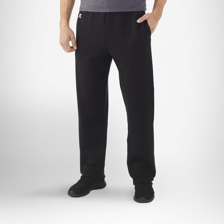 Men's Dri-Power® Open-Bottom Pocket Sweatpants BLACK
