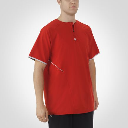 Men's Dri-Power® Short Sleeve 1/4 Zip Pullover TRUE RED/WHITE