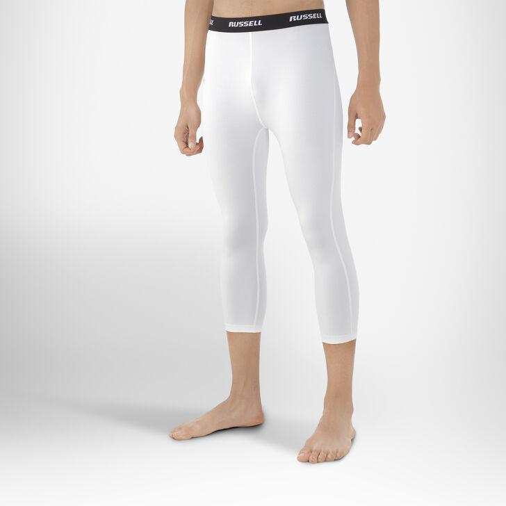 Men's Dri-Power® 3/4 Compression Tights WHITE