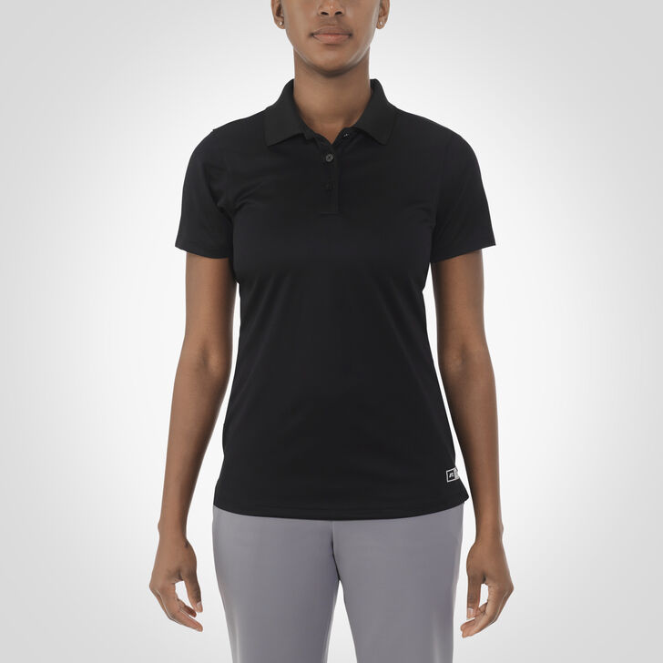 Women's Dri-Power® Short Sleeve Essential Polo BLACK