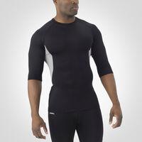 Men's Dri-Power® Half Sleeve Compression Crew BLACK/ROCK