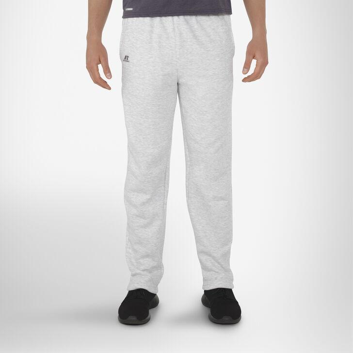 Men's Cotton Rich Open-Bottom Sweatpants with Pockets ASH