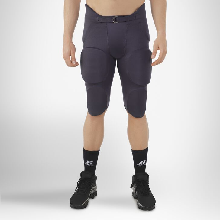 Men's Integrated 7-Piece-Pad Football Pants STEALTH