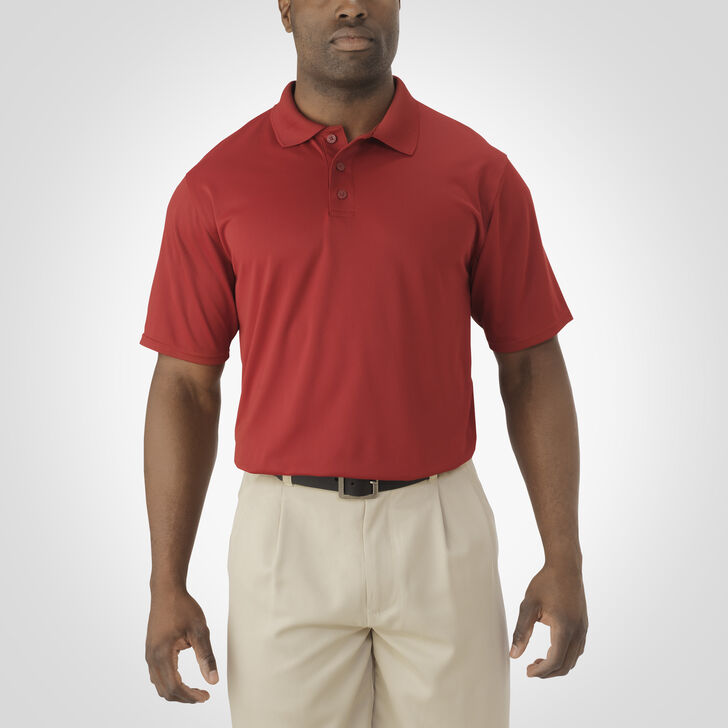 Men's Dri-Power® Essential Short Sleeve Polo CARDINAL