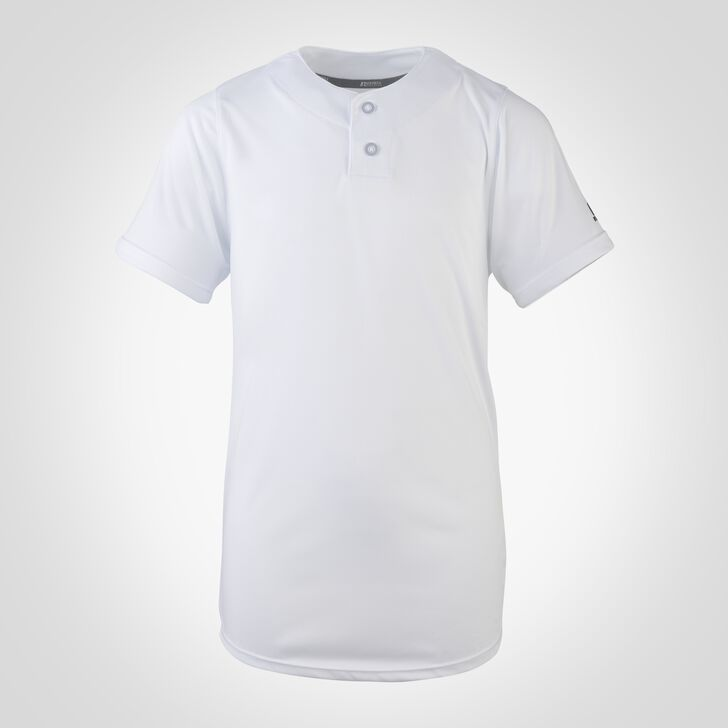 Youth Dri-Power® Solid Baseball Jersey WHITE