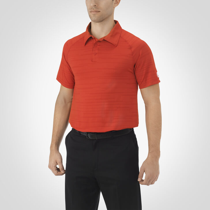 Men's Dri-Power® Striated Polo TRUE RED