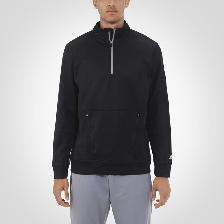 Men's Dri-Power® Tech Fleece 1/4 Zip Pullover BLACK