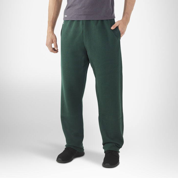 Men's Dri-Power® Open-Bottom Pocket Sweatpants DARK GREEN
