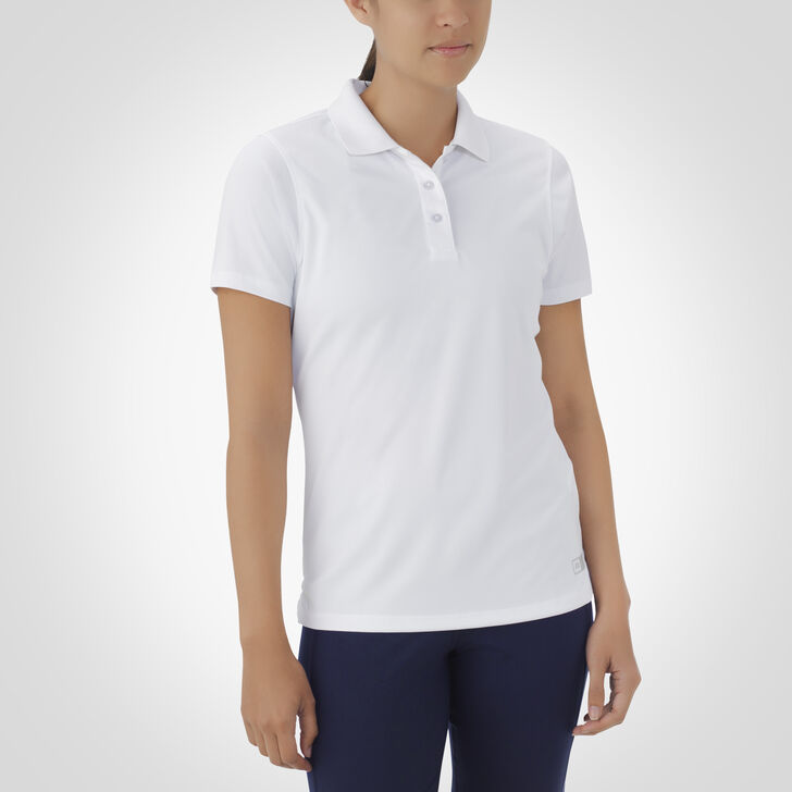 Women's Dri-Power® Short Sleeve Essential Polo WHITE