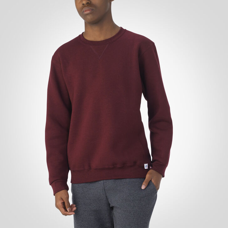 Youth Dri-Power® Fleece Crew Sweatshirt MAROON