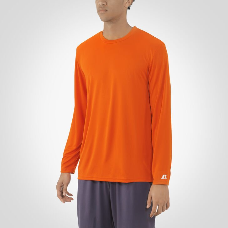 Men's Dri-Power® Core Performance Long Sleeve Tee BURNT ORANGE