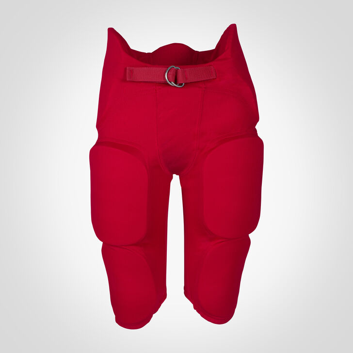 Youth Integrated 7-Piece-Pad Football Pants TRUE RED