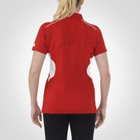 Women's Premium Gameday Polo TRUE RED/WHITE