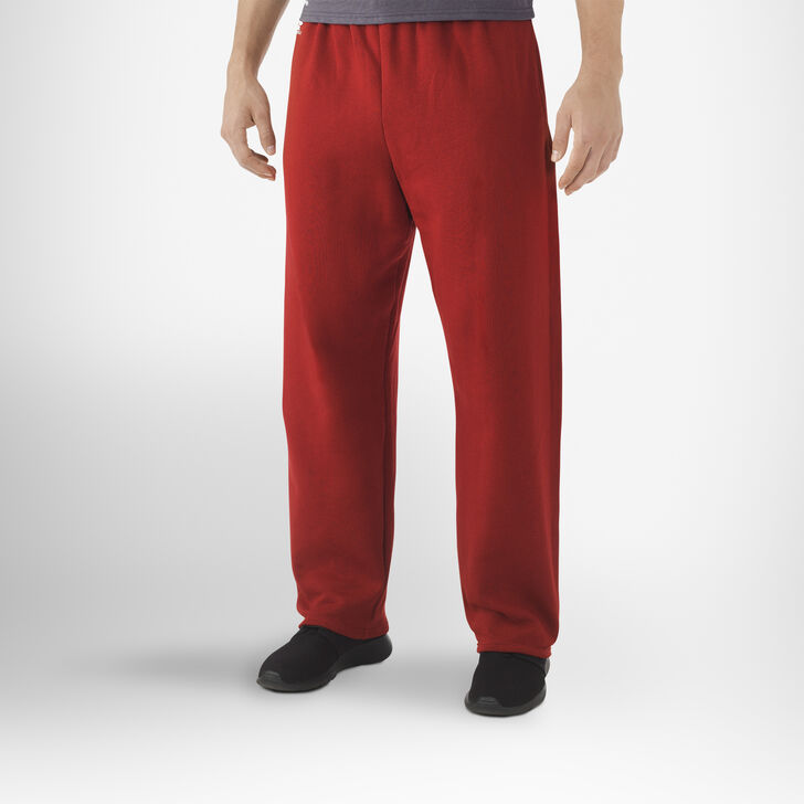 Men's Dri-Power® Open-Bottom Pocket Sweatpants CARDINAL