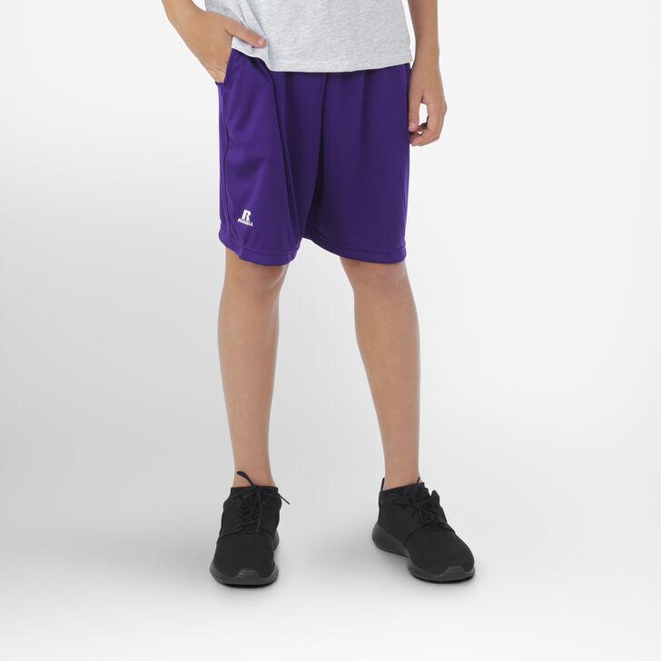 Youth Dri-Power® Essential Performance Shorts with Pockets PURPLE
