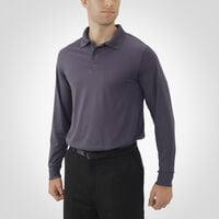Men's Dri-Power® Essential Long Sleeve Polo STEALTH