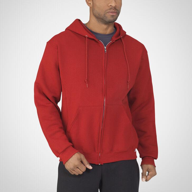 Men's Dri-Power® Fleece Full-Zip Hoodie CARDINAL