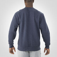Men's Cotton Rich Fleece Crew Sweatshirt NAVY HEATHER