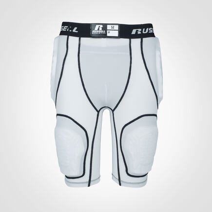 Youth 5-Piece Integrated Football Girdle GRIDIRON SILVER