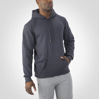 Men's Cotton Rich Fleece Hoodie CHARCOAL GREY HEATHER