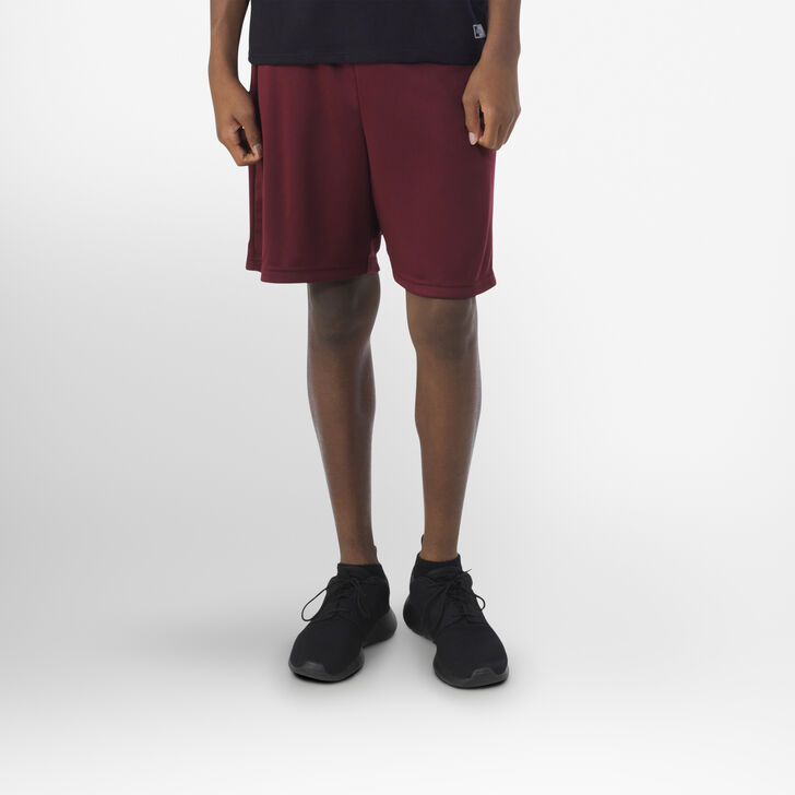 Youth Dri-Power® Essential Performance Shorts with Pockets MAROON