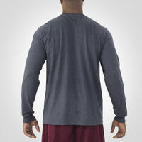 Men's Essential Long Sleeve Tee BLACK HEATHER