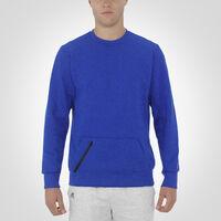 Men's Cotton Rich Fleece Crew Sweatshirt BLUE HEATHER