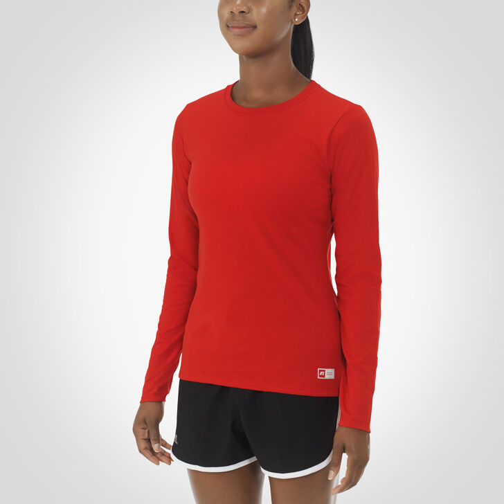 Women's Essential Long Sleeve Tee TRUE RED