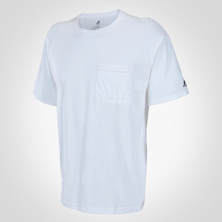 Men's Basic Cotton Pocket Tee WHITE