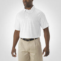 Men's Dri-Power® Striated Polo WHITE