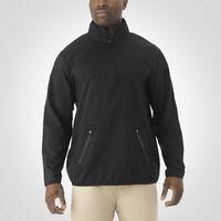 Men's Woven 1/4 Zip Pullover BLACK
