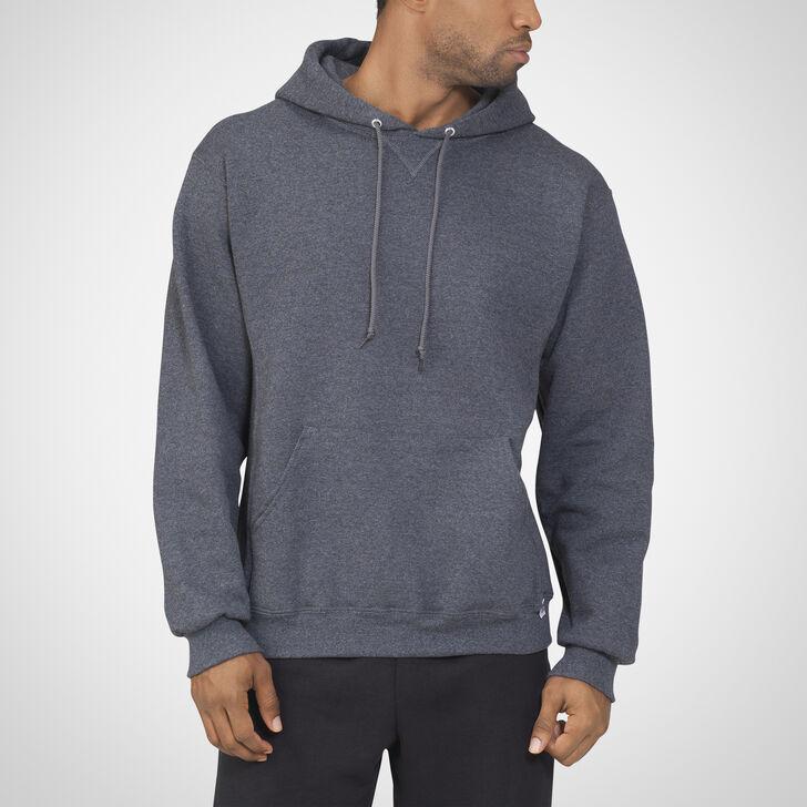 Men's Dri-Power® Fleece Hoodie BLACK HEATHER