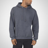 Men's Dri-Power® Fleece Hoodie BLACK HEATHER