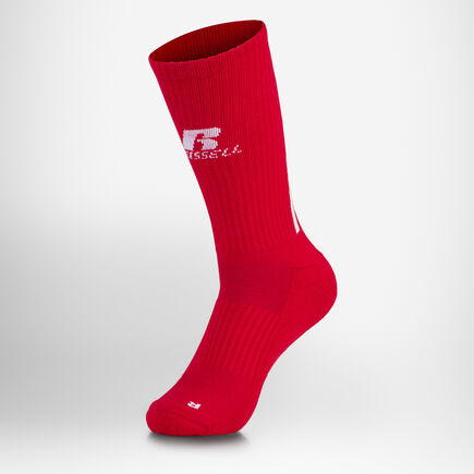 P & R Crew Socks TRUE RED/WHITE/BLACK