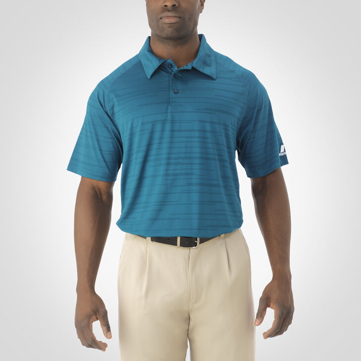 Men's Dri-Power® Striated Polo SHADED SPRUCE