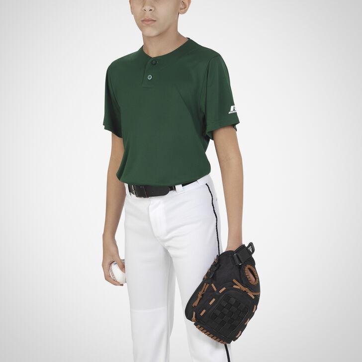 Youth Dri-Power® Solid Baseball Jersey DARK GREEN