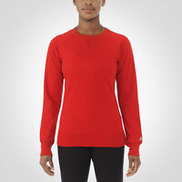 Women's Fleece Crew Sweatshirt TRUE RED