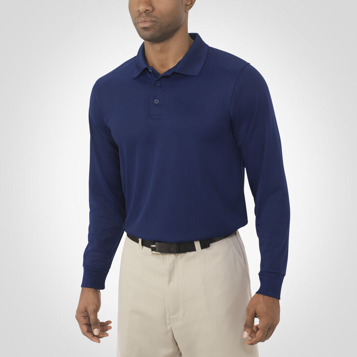 Men's Dri-Power® Essential Long Sleeve Polo NAVY
