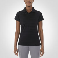 Women's Dri-Power® Striated Polo BLACK