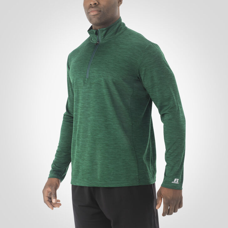 Men's Dri-Power® Lightweight 1/4 Zip Pullover DARK GREEN