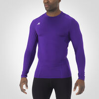 Men's Dri-Power® Tight-Fit Cold Weather Long Sleeve Crew PURPLE