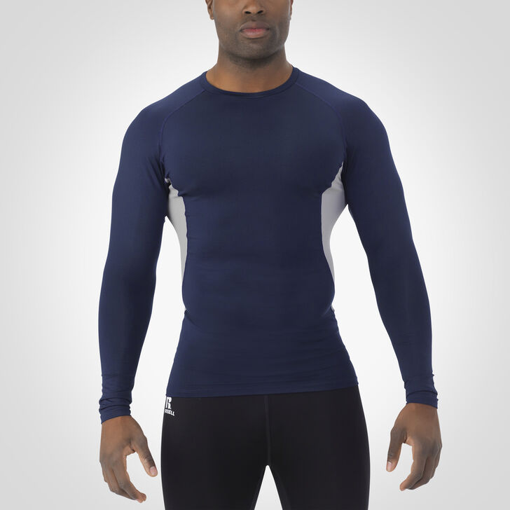 Men's Dri-Power® Long Sleeve Compression Crew NAVY/ROCK
