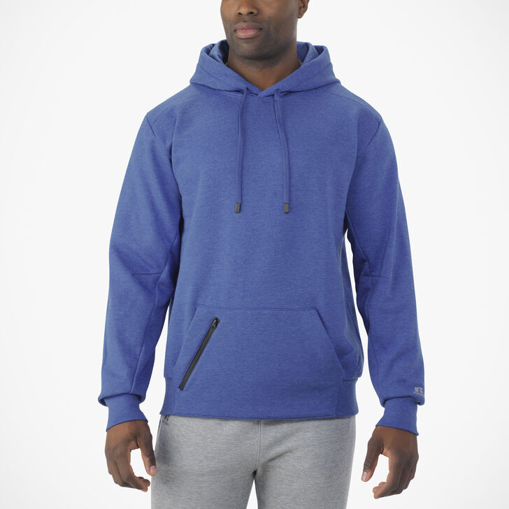 Men's Cotton Rich Fleece Hoodie BLUE HEATHER