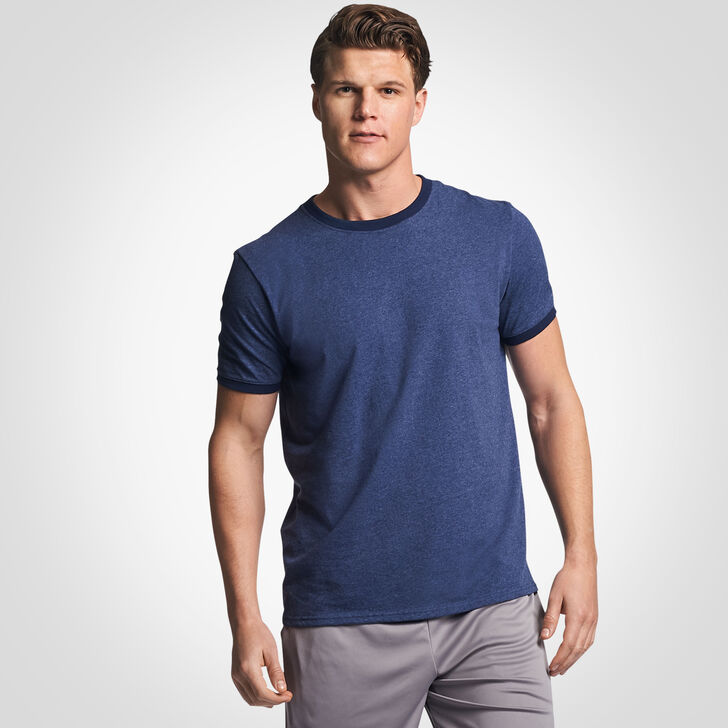 Men's Cotton Performance Ringer T-Shirt VINTAGE NAVY/NAVY