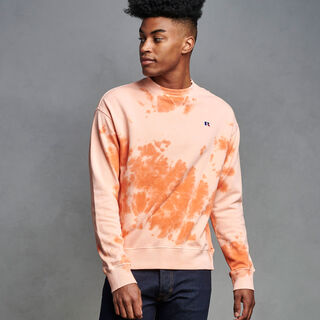 Men's Tie Dye French Terry Sweatshirt ORANGE