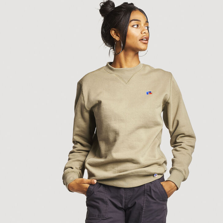 Women's Heritage Oversized Fleece Crew Sweatshirt DRY GRASS