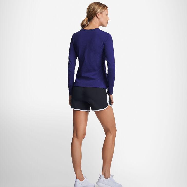 Women's Cotton Performance Long Sleeve T-Shirt PURPLE