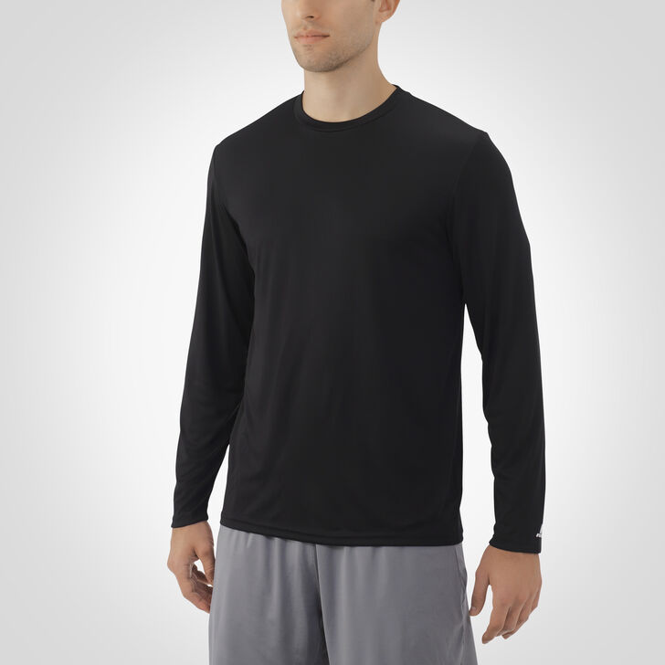 Men's Dri-Power® Core Performance Long Sleeve Tee BLACK