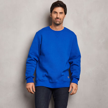 Men's Cotton Classic Fleece Crew Sweatshirt ROYAL